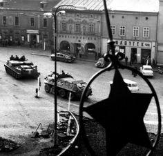 Soviet invaders in Příbram, Czechoslovakia