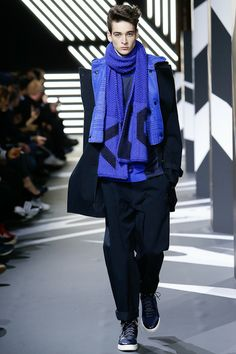 Y-3 | Fall 2014 Menswear Collection | Style.com Primary Blue