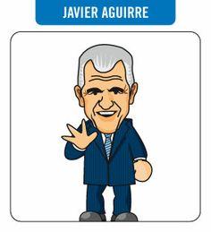 Caricatura de Javier Aguirre. Entrenador del RCD Espanyol (2012-2014)