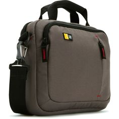 Case Logic VNA210 10.2-Inch Netbook/iPad Attache (Black and Brown) iPad bags men With carrying handles and removable shoulder straps A dedicated USB storage area in the accessory pocket Great for travel. Elastic strap at the back lets you slip the bag onto the handles of the wheeled luggage