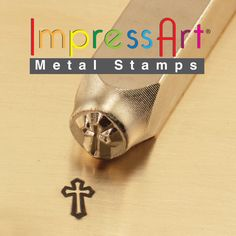 Cross Outline Metal Stamp 6 mm ImpressArt Hand Stamping Tool for DIY Metal Stamped Jewelry Blanks Leather Crafting Clay