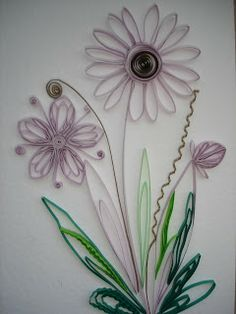 Handmade by Mihaela: Tutorial floare Quilling Paper Craft, Quilling Flowers, Paper Flowers, Paper Crafts, Purple Flowers, Wild Flowers, Cute Crafts, Diy And Crafts, Arts And Crafts