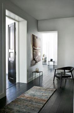 Белые стены, черный пол - скандинавский интерьер ~ Дизайн красивых интерьеров и вещей