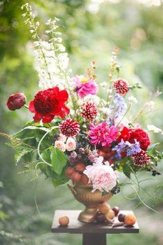 flowery vase