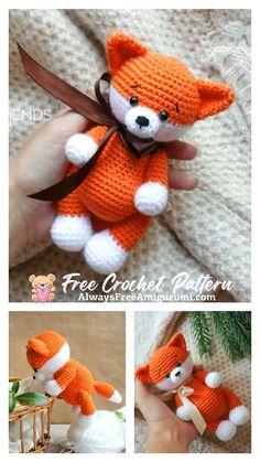 Crochet Toys Patterns, Stuffed Toys Patterns, Crochet Baby, Free Crochet, Crocheted Toys, Step By Step Crochet, Learn To Crochet, Loom Knitting, Crochet Animals