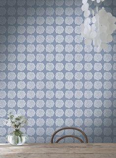 A pretty floral motif wallpaper design with tiny flowers by Marimekko. Wallpaper Online, Wall Wallpaper, Floral Motif, Floral Design, Marimekko Wallpaper, Grown Up Bedroom, Scandinavia Design, Contemporary Wallpaper, Interior Design Companies