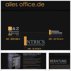 Internetseite Relaunch allesoffice.de / Leistungen: Technische Umsetzung / Techniken: Contao, XHTML, CSS, PHP, Javacript, mootools