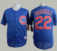 7ec4ef14e Cubs  22 Addison Russell Blue Alternate Cool Base Stitched MLB Jersey