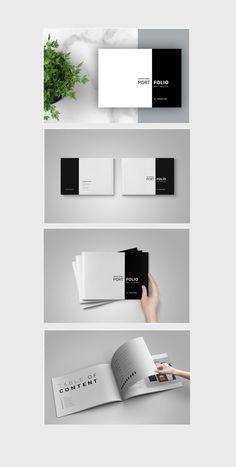 44 page minimal brochure template on Behance Portfolio Examples, Design Portfolio Layout, Book Design Layout, Portfolio Pdf, Product Portfolio, Design Design, Architecture Portfolio Template, Portfolio Architect, Graphic Design Brochure