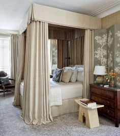 Traditional Bedroom by Michael S. Smith Inc. and Marvin Herman & Associates Architects in Chicago, Illinois