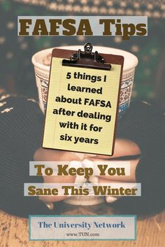5 FAFSA Tips To Keep You Sane There were some pretty big shakeups in the FAFSA this year and the purpose of this article is to give you the five things you need to know about the FAFSA if you want to keep sane! – College Scholarships Tips Grants For College, Financial Aid For College, College Planning, Online College, Scholarships For College, College Hacks, Education College, College Students, College Club
