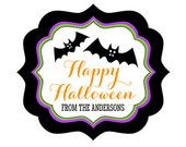Halloween Stickers - Halloween Party Favors Stickers - Halloween Treat Bag Stickers Halloween Baby Shower Stickers (EB3020SHLWN) - set of 12