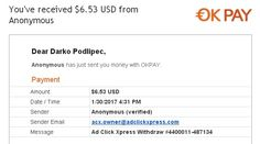 """MY # 79c WITHDRAWAL PROOF FROM ACX !!! I WORK FROM HOME less than 10 minutes and I manage to cover my LOW SALARY INCOME.  If you are a PASSIVE INCOME SEEKER,  then Ad ClickXpress (Ad Click Xpress) is the best ONLINE OPPORTUNITY for you."""" Make extra money at home, ACX is my home business, let it be yours business!  Watch YT video: https://www.youtube.com/watch?v=_Gzb53H0gfs"""