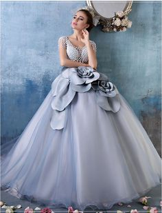 Vintage Inspired Illusion Floral Prom Dress