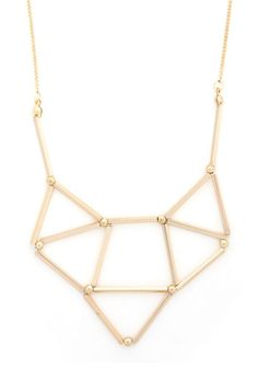 Shape, Dazzle, and Roll Necklace. With this versatile necklace draped around your neck, youre always ready to roll in sparkling style! #gold #prom #modcloth