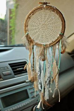 custom crochet doily/lace dream catcher by HCDD on Etsy, $19.99 I think this is so beautiful! I will definitely buy one of these after my next paycheck :)