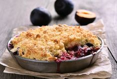 Learn how to make a classic crumble with our easy apple crumble recipe. The perfect treat for Sunday lunch, our apple crumble is quick and simple to make. Crumble Topping, Rhubarb Crumble, Plum Cobbler, Plum Pie, Lemon And Lime Cheesecake, Baking Recipes, Dessert Recipes, Fruit Dessert, Pastries
