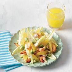 Recept - Avocadosalade met rivierkreeftjes en sinaasappel - Allerhande