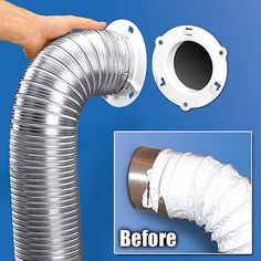 """$8.85 - New! 5000-1 Dryer Dock White Dryer Vent Quick Connect Fits 4"""" Tubes 6"""" Overall #ebay #Home & Garden"""