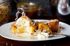 grilled peach split by smitten, via Flickr