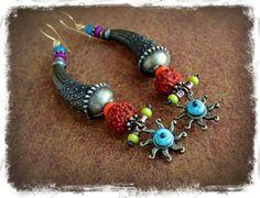 Tribal SUN boucles d'oreilles Boucles d'oreilles par GPyoga sur Etsy