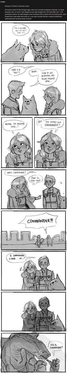 Cullen brought back dragon eggs. Clearly something was going to happen with that! (Alistair/Warden's son with Cullen/Inquisitor's daughter)