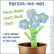 forget-me-not-plant stake craft