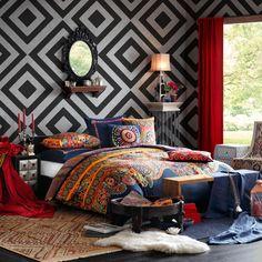 Josie Hollywood Boho Mini Comforter Set, Full/Queen