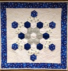The HEXIE Blog: Snowflakes and Geese  made from the Jan 2014 Block of the month