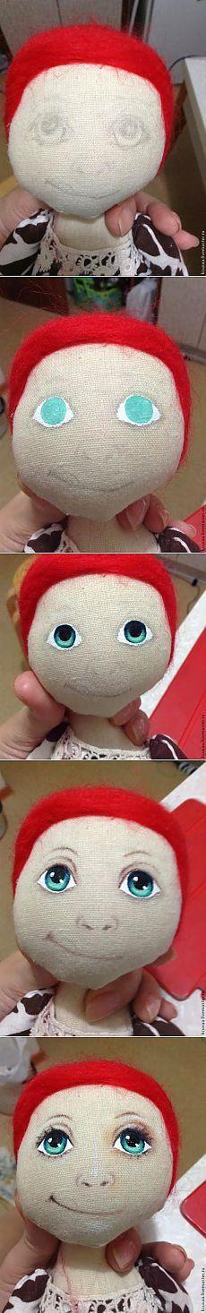 Подробный МК по росписи кукольного лица / Разнообразные игрушки ручной работы / PassionForum - мастер-классы по рукоделию