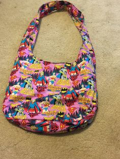 A personal favorite from my Etsy shop https://www.etsy.com/listing/526600433/super-hero-girls-hobo-bag