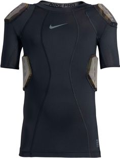 e10c67c0b Nike Men's Pro Combat Hyperstrong 4-Pad Camo Football Shirt, Black Football  Players,