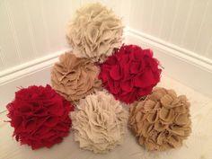 Burlap Hydrangeas Bouquet  Wedding by JenniCopelandCrafts on Etsy, $8.00