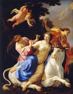 Simon Vouet the rape of Europa