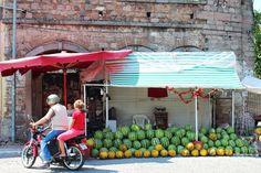 Watermelon vendor, Bergama, Turkey. (A. Carman)