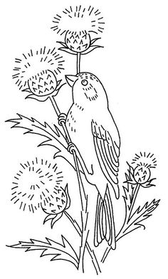 bird and thistle by love to sew, via Flickr