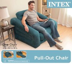 Intex Pull-out Chair, Colors May Vary | Camping and Hunting Gear Shopper Portal