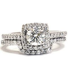 """Admired by brides, halo diamond engagement rings really are a signature type of Ritani. Halo rings have a central round stone encircled with a """"halo"""" of smaller sized diamonds or gemstones. Split Shank Engagement Rings, Engagement Wedding Ring Sets, Diamond Engagement Rings, Wedding Rings, Diamond Ring Settings, Halo Diamond, Ring Ring, Matching Wedding Band Sets, Cushion Halo"""