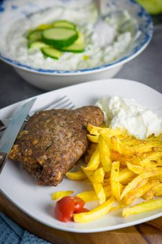 Rezept für die Heissluftfritteuse - super einfach zuzubereiten - griechisches Bifteki aus dem Philips Airfryer