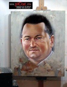 Tablouri pictate: Picturi in ulei pe panza dupa fotografie Portret de tatic
