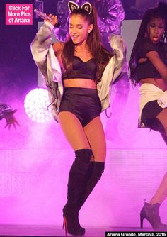 shorts short top underwear blac ariana grande honeymoon tour shoes shirt party high waisted hair accessory sweater