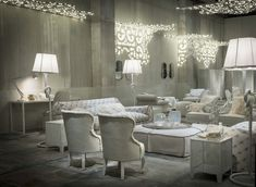 Paola Navone Designs White Fairy Tale Like Interiors To Present Latest Furniture By Baxter Living Room