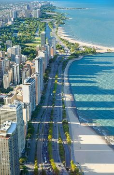 Lake Shore Drive, Chicago - The mile long drive was completed in 1937 & inaugurated in Chicago City, Chicago Skyline, Chicago Illinois, Chicago Lake, Chicago Chicago, Milwaukee City, Chicago Travel, Wisconsin, Lake Michigan