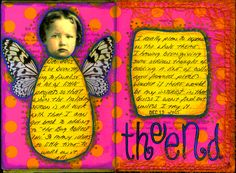 Another altered book 'Working the Bugs Out'. I'll show you some of my favourite pages. Click on image to see whole book. #art #craft #altered art