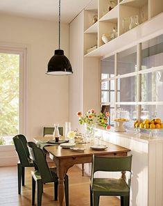 [Decotips] Cómo ganar metros en la cocina y ubicar un comedor de diario   Decoración