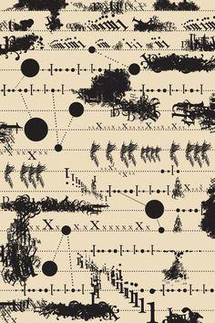 """Código_Sean Serafini. Esta pieza está inspirada en una pieza de música experimental creado a partir de doblaje de """"sonidos de la naturaleza"""" (de caída de rocas , olas rompiendo y arbustos susurrantes) ."""
