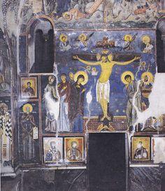 parete occidentale della navata. Crocefissione. Artista bizantino attivo in Serbia. n1208 - 1209 Dubrovnik, Painting, Western World, Artist, Painting Art, Paintings, Painted Canvas, Drawings