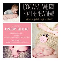 New Year birth announcement