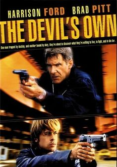 """""""The Devil's Own"""" (dir. Alan J. Pakula, 1997) --- Determined to avenge his father's death at the hands of British soldiers, Irish Republican Army terrorist Frankie McGuire (Brad Pitt) sails to America to buy weapons from an underground arms dealer. But his cover is blown when things don't go as planned. Harrison Ford plays an NYPD detective and Pitt's visa sponsor. MY RATING: 3/5 Stars"""