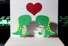 Pop-up dinosaur card